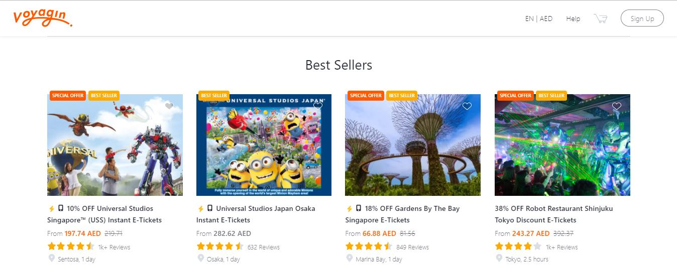 موقع فوياجين voyagin best sellers