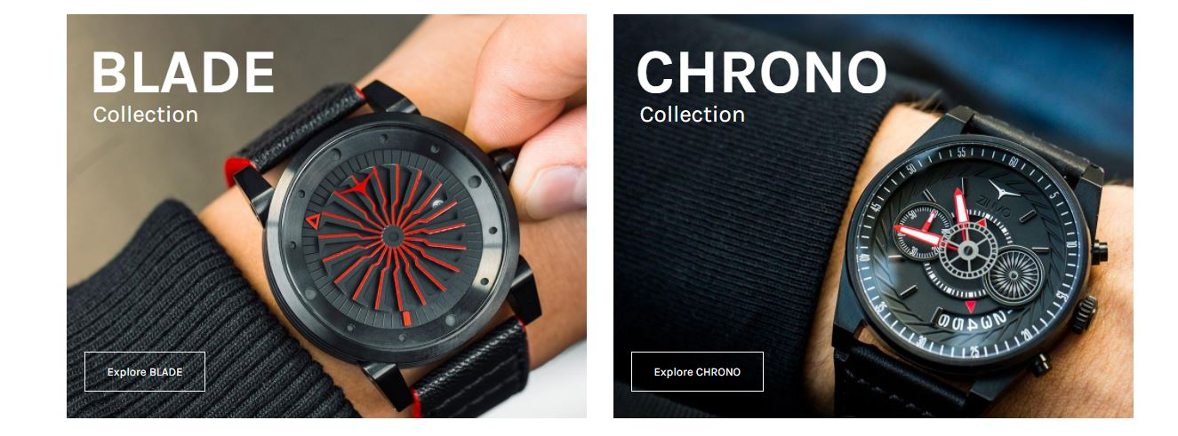 موقع zinvo - blade and chrono collection
